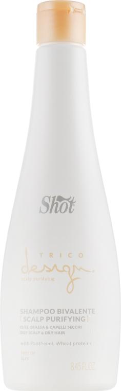 Шампунь двойного действия для жирной кожи головы - Shot Trico Design Skin Purifying Bivalente Shampoo