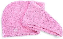Духи, Парфюмерия, косметика Полотенце-тюрбан для сушки волос, розовое - MakeUp