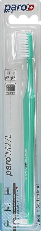 "Зубная щетка ""M27L"", бирюзовая - Paro Swiss Isola F"