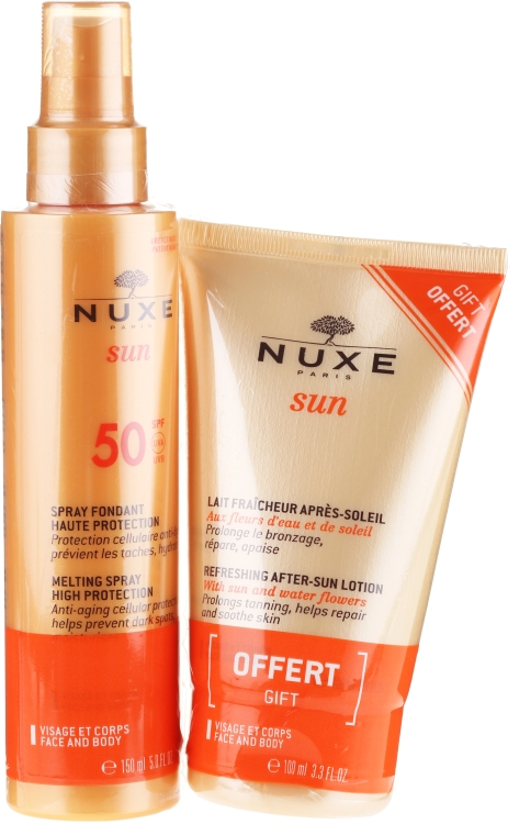 Набор - Nuxe Sun SPF50 (b/spray/150ml + b/lotion/100ml)