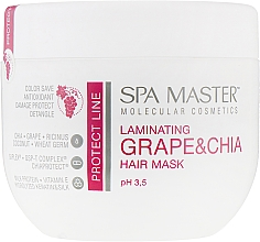 Духи, Парфюмерия, косметика Ламинирующая маска для защиты волос с виноградом и чиа - Spa Master Laminating Grape & Chia Hair Mask