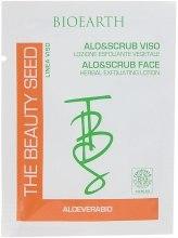 Духи, Парфюмерия, косметика Отшелушивающий скраб для лица с алоэ - Bioearth The Beauty Seed Alo&Scrub Viso (пробник)