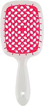 Парфумерія, косметика Щітка для волосся, малиново-біла - Janeke Superbrush