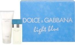 Духи, Парфюмерия, косметика Dolce&Gabbana Light Blue - Набор (edt 50 + b/c 100)