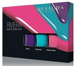 Духи, Парфюмерия, косметика Набор лаков для ногтей - Mesauda Milano Riviera Smalto Shine Flex