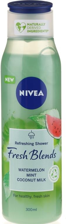 "Гель для душа ""Арбуз, мята и кокосовое молоко"" - Nivea Fresh Blends Refreshing Shower Watermelon Mint Coconut Milk"
