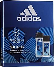 Духи, Парфюмерия, косметика Adidas UEFA Dare Edition - Набор (sh/gel/250ml + deo/75ml)