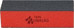 Духи, Парфюмерия, косметика Баф для ногтей, M-28, 3 стороны,черный+оранжевый - Nails Molekula
