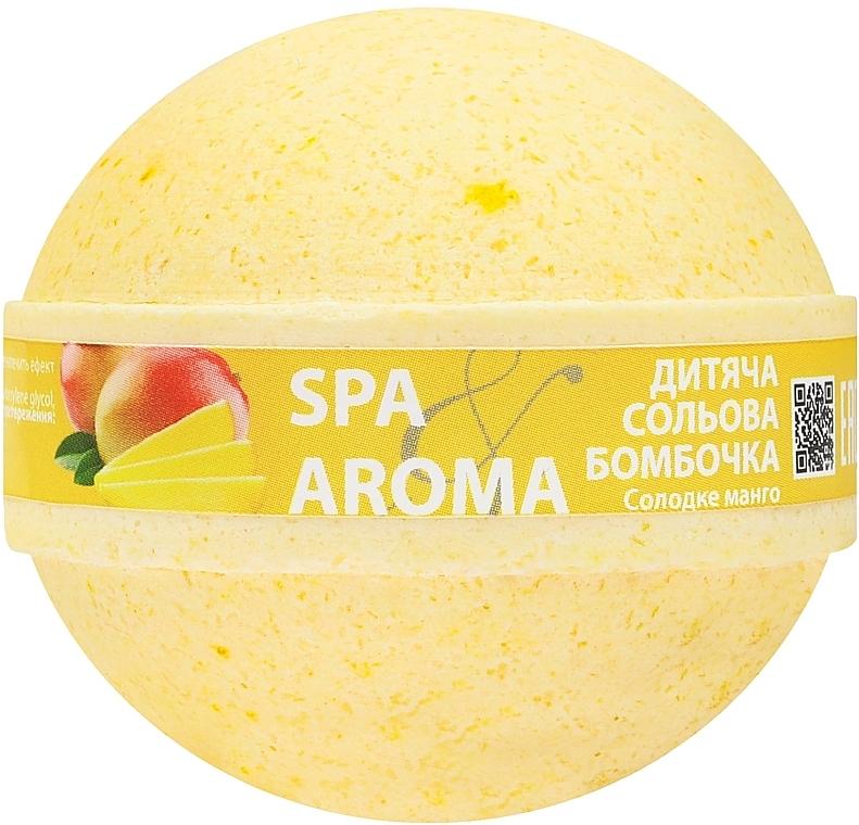"""Детская солевая бомбочка для ванн """"Сладкое манго"""" - Bioton Cosmetics Spa Aroma Bath Bomb"""