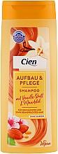 Духи, Парфюмерия, косметика Шампунь для волос с запахом ванили и миндаля - Cien Aufbau & Pflege Vanilla & Almonds Shampoo