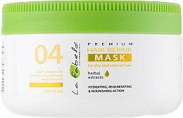 Духи, Парфюмерия, косметика Восстанавливающая маска для сухих и окрашенных волос - La Fabelo Premium 04 Hair Repair Mask