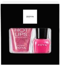 Духи, Парфюмерия, косметика Подарочный набор - Zoya Kiss At Midnight (lip gloss/15ml + nail polish/12ml)