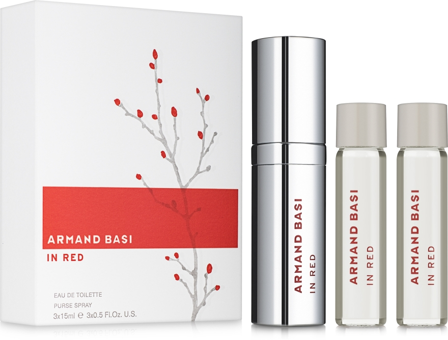 Armand Basi In Red - Набор (edt/3x15ml)