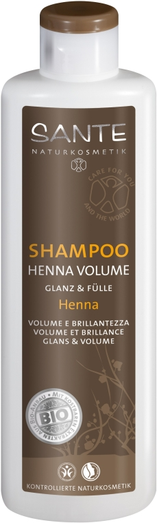 Шампунь для объема волос «Хна» - Sante Hair Care & Styling Shampoo Henna Volume
