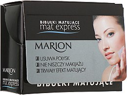 Духи, Парфюмерия, косметика Набор матирующих салфеток для лица, 4шт+1 - Marion Mat Express