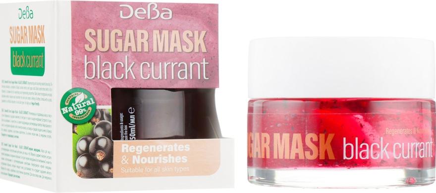 """Восстанавливающая и питательная маска для лица и губ """"Черная смородина"""" - Deba Sugar Mask"""