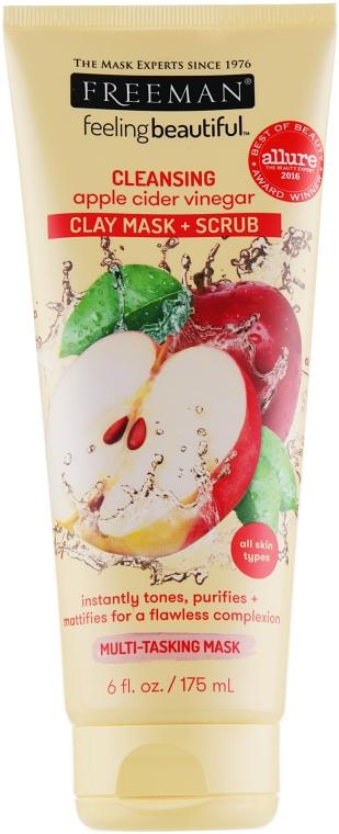 "Маска 4в1 для лица ""Уксус яблочного сидра"" - Freeman Feeling Beautiful 4-in-1 Apple Cider Vinegar Foaming Clay"