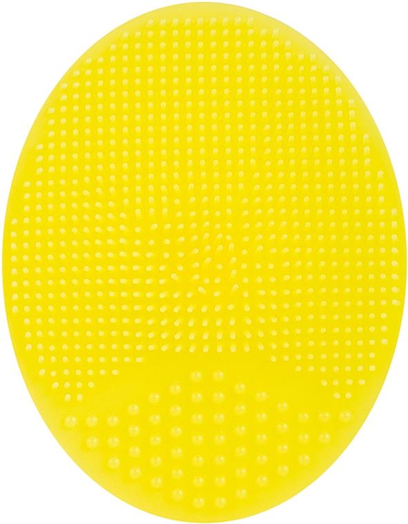 Спонж силиконовый для умывания, PF-60, желтый - Puffic Fashion
