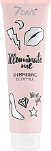 Духи, Парфюмерия, косметика Мерцающее молочко для тела - 7 Days Illuminate Me Shimmering Body Milk