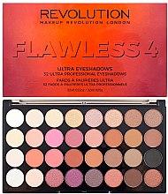 Духи, Парфюмерия, косметика Палетка теней для век, 32 оттенка - Makeup Revolution Ultra 32 Shade Palette Flawless 4