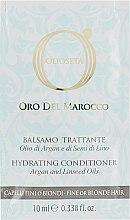 Духи, Парфюмерия, косметика Кондиционер для тонких и светлых волос - Barex Italiana Olioseta Oro Del Morocco Balsamo (пробник)