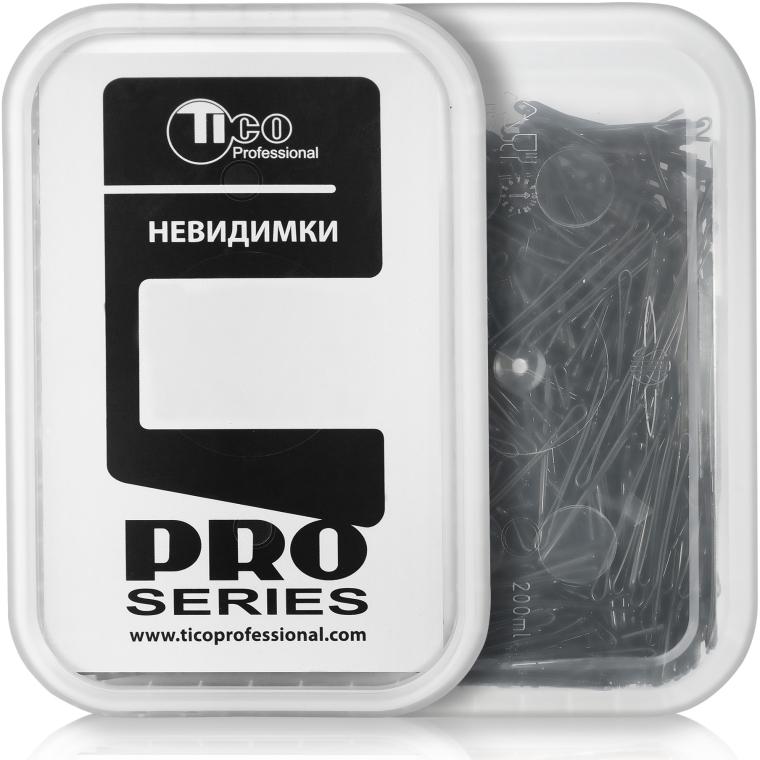 Невидимки для волос ровные, 40мм, черные - Tico Professional