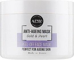 "Духи, Парфюмерия, косметика Маска для лица альгинатная омолаживающая ""Золото и Жемчуг"" - Alesso Professionnel Alginate Gold and Pearl Peel-Off Face Anti-Age Mask"