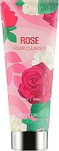 Духи, Парфюмерия, косметика Очищающая пенка для лица с экстрактом розы - Beauadd Bonnyhill Flower Cleansing Foam Rose