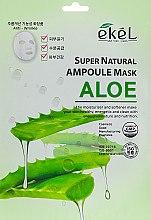 Духи, Парфюмерия, косметика Тканевая маска с экстрактом алоэ - Ekel Super Natural Ampoule Mask Aloe
