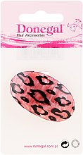 Духи, Парфюмерия, косметика Резинка для волос, 5375, розовая в леопардовых пятнах - Donegal