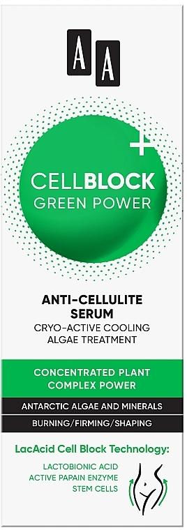 Антицеллюлитный концентрат для тела - AA Cell Block Green Power Intense Slimming Concentrate