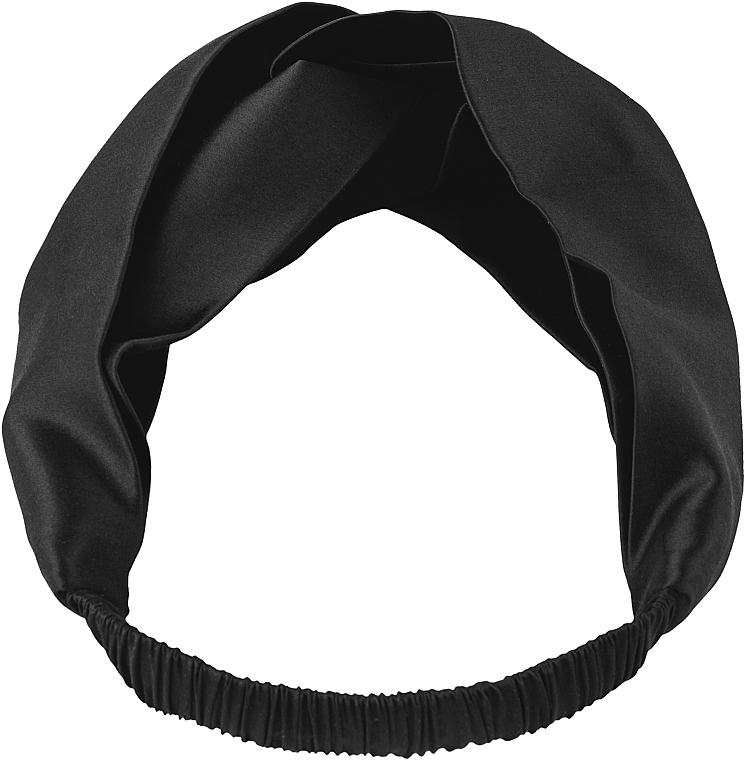 """Повязка для волос из натурального шелка, черная """"Twist"""" - Makeup Hairband Twist Black"""