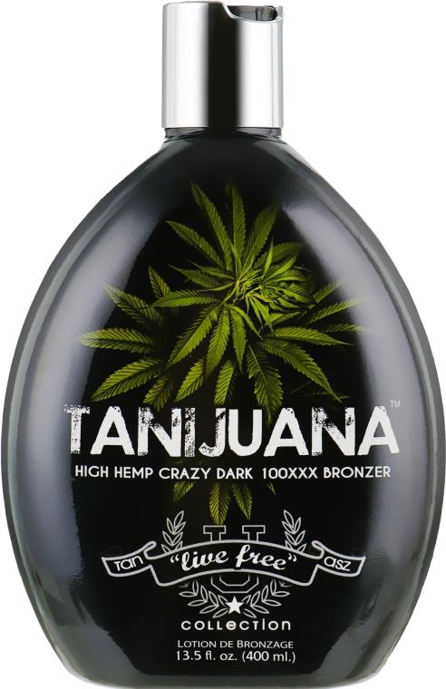 Крем для загара в солярии на основе масла семян «королевской» конопли , защита тату - Tan Acz Tanijuana Dark 100x