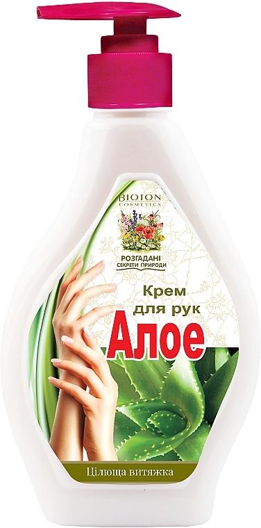 """Крем для рук противовоспалительный с дозатором """"Алоэ"""" - Bioton Cosmetics Hand Cream"""