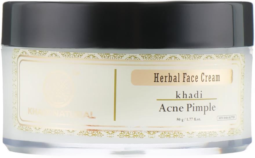 Аюрведический анти-акне крем против прыщей и угрей - Khadi Natural Herbal Acne Pimple Cream