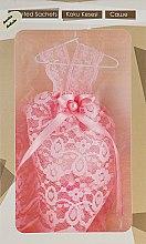 Духи, Парфюмерия, косметика Саше для ароматизации одежды и белья в виде ажурного розового платья - MSPerfum