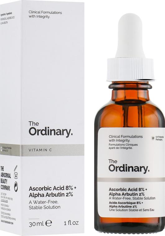 Сыворотка осветляющая - The Ordinary Ascorbic Acid 8% + Alpha Arbutin 2%