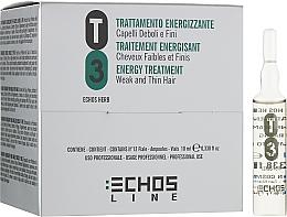 Парфумерія, косметика Зміцнюючий лосьйон проти випадіння волосся (в ампулах) - Echosline Т3 Energy Treatment