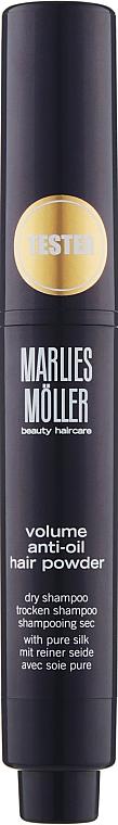 Сухой шампунь придающий объем с шелком - Marlies Moller Specialists Volume Anti-Oil Hair Powder (тестер)