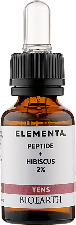 Концентрат, стимулирующий выработку коллагена - Bioearth Elementa Tens Peptide + Hibiskus 2%