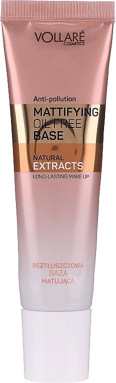 Матирующая база под макияж - Vollare Cosmetics Mattifying Oil Free Base