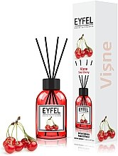 "Парфумерія, косметика Аромадифузор ""Вишня"" - Eyfel Perfume Reed Diffuser Cherry"