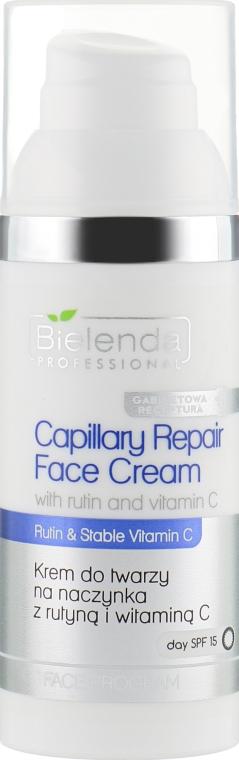 Крем для кожи с куперозом с рутином и витамином С - Bielenda Professional Capilary Repair Face Cream