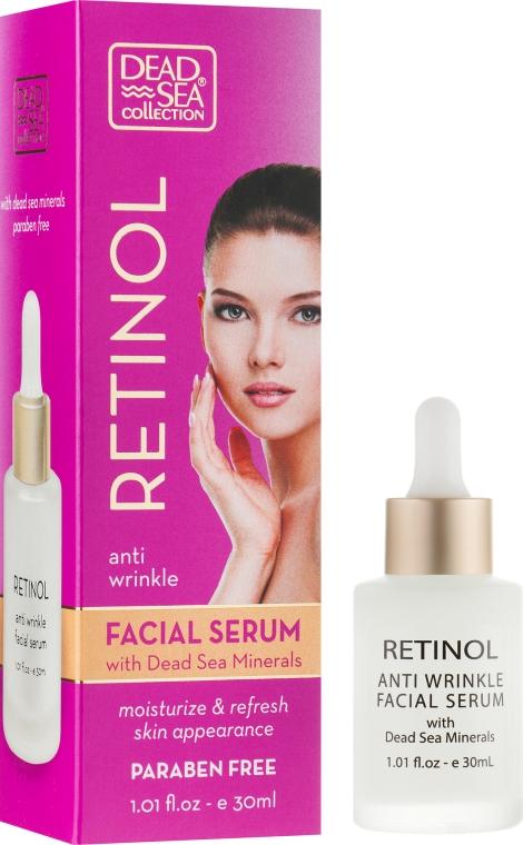 Сыворотка против морщин с ретинолом и минералами Мертвого моря - Dead Sea Collection Retinol anti Wrinkle Facial Serum