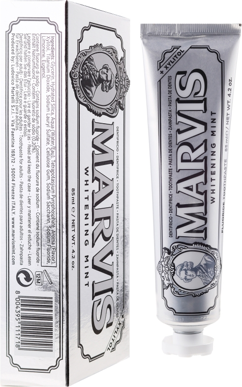 Отбеливающая зубная паста с ксилитолом - Marvis Whitening Mint + Xylitol
