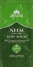 Духи, Парфюмерия, косметика Скраб для тела - Ayumi Neem & Tea Tree Body Scrub (пробник)