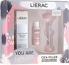Духи, Парфюмерия, косметика Набор - Lierac Cica-Filler Set (f/crl/40ml + f/milk/30ml + roller/1pcs)