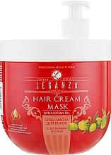 Духи, Парфюмерия, косметика Крем-маска для волос с аргановым маслом - Leganza Cream Hair Mask With Argan Oil (с дозатором)