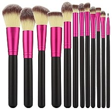 Духи, Парфюмерия, косметика Набор профессиональных кистей для макияжа, 12шт, розовые с черным - Tools For Beauty