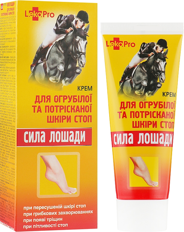 """Крем """"Сила лошади"""" для огрубевшей и потрескавшейся кожи стоп - LekoPro"""